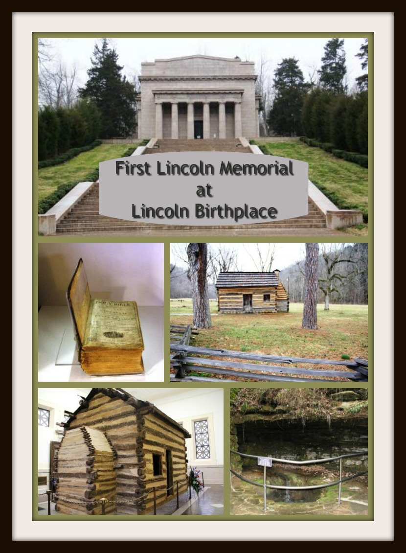 The First Lincoln Memorial At Abraham Lincoln Birthplace