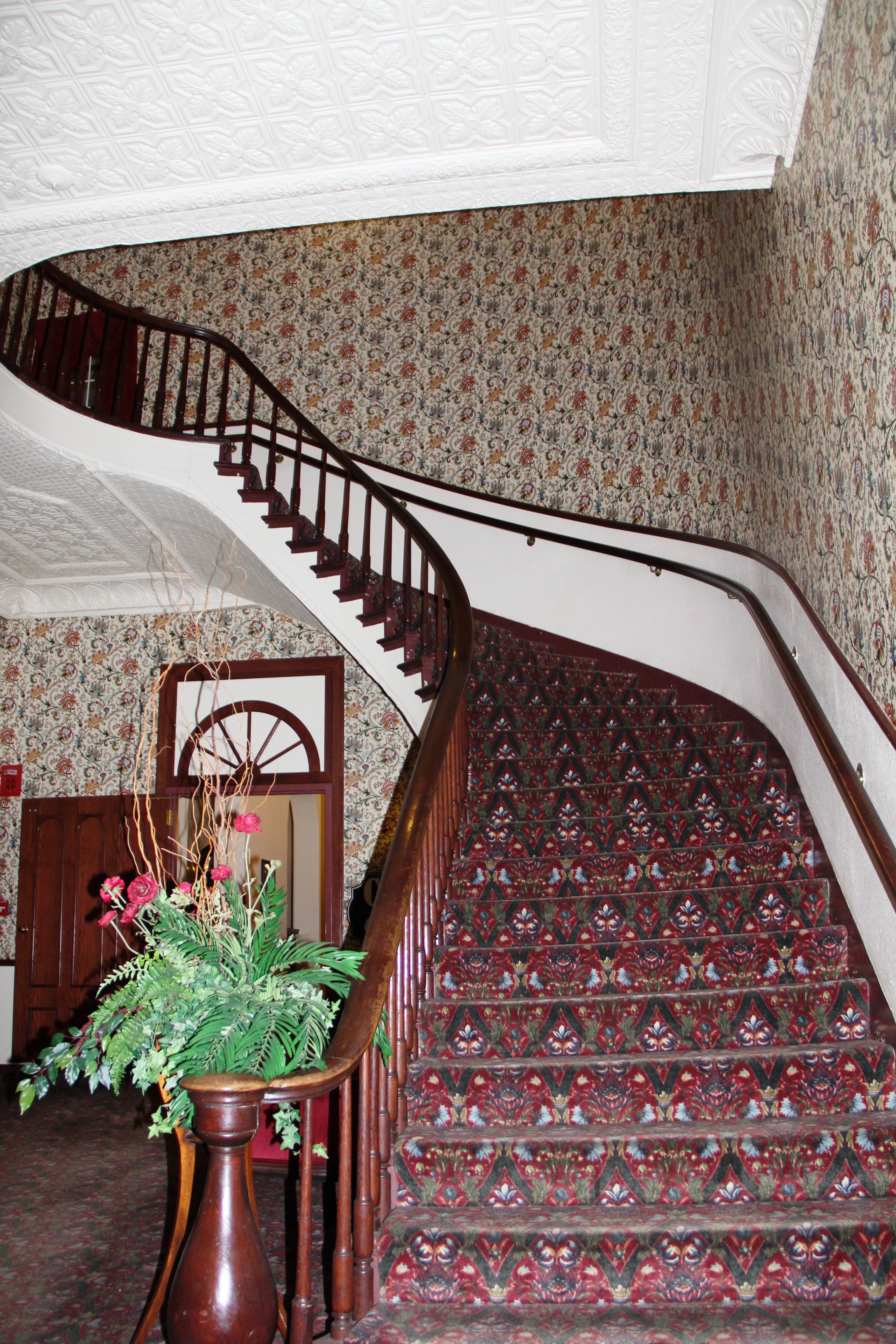 Staircase at DeSoto House Hotel