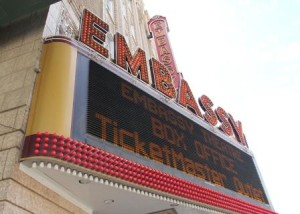 Embassy Theater Marquee