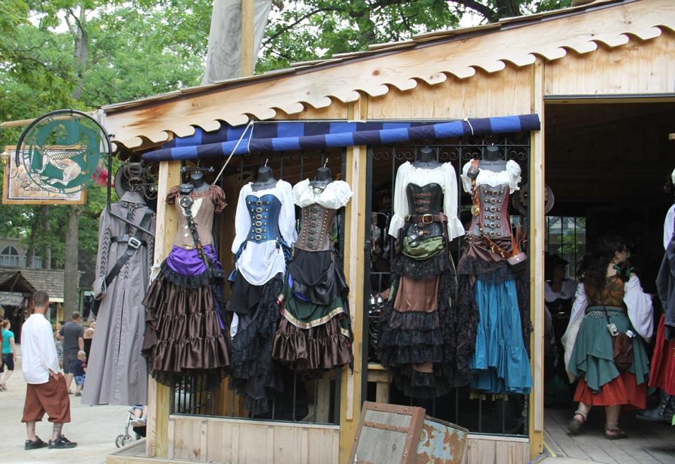 Renaissance festival clothing stores