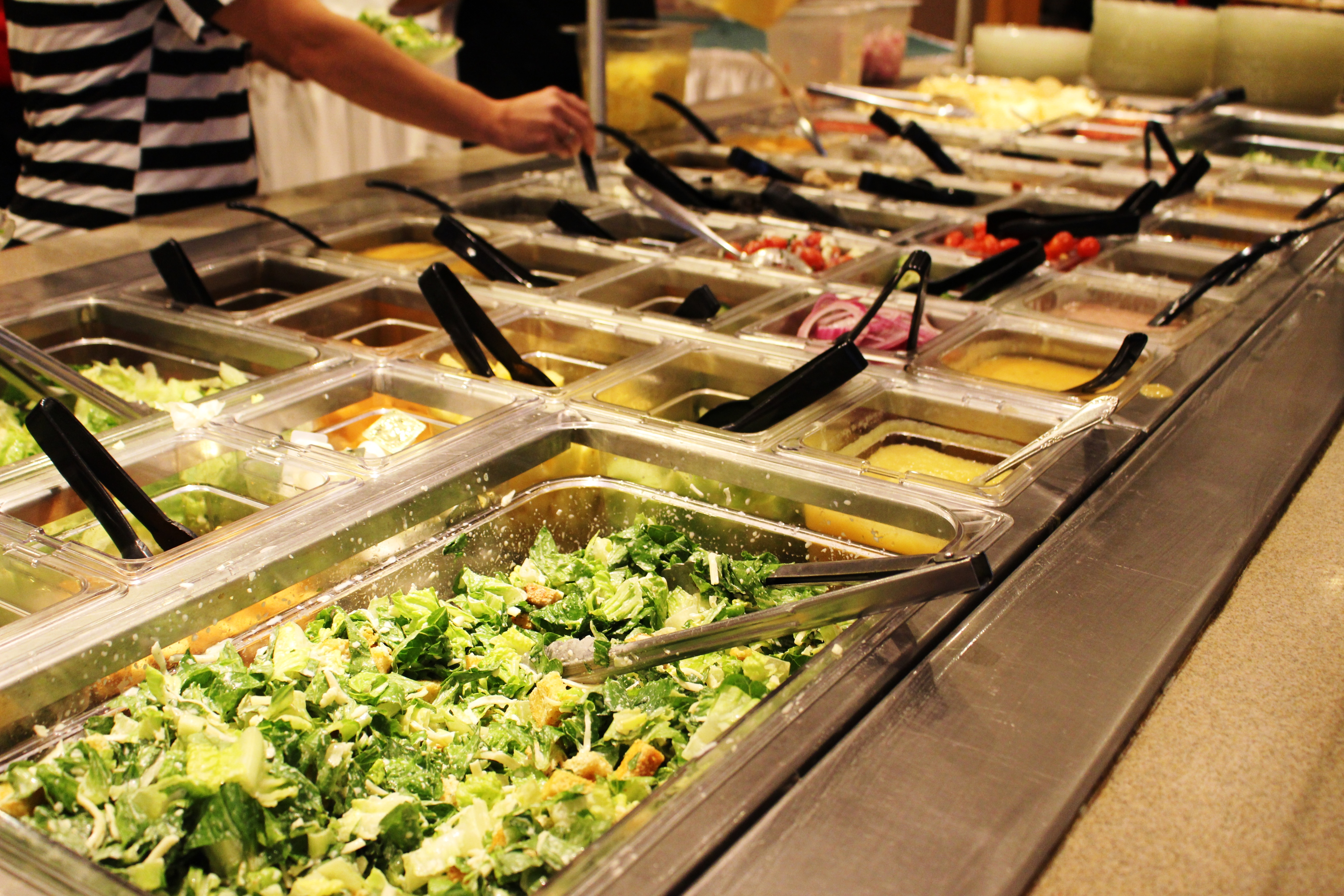 Choose Wisely: Soup and Salad bar at Shrine Restaurant, Belleville, Illinois