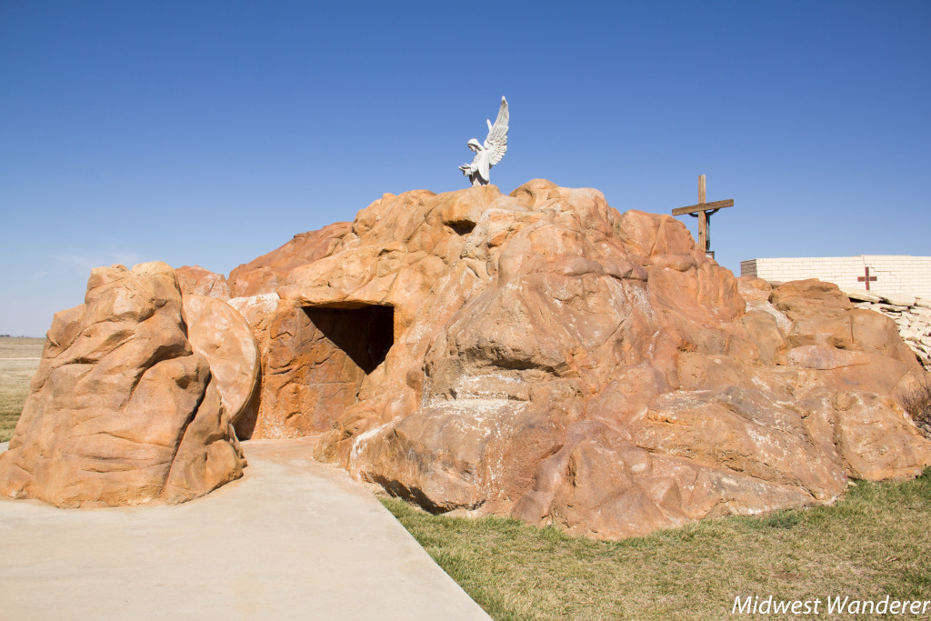 Tomb at Cross of our Lord Jesus Christ, Groom Texas