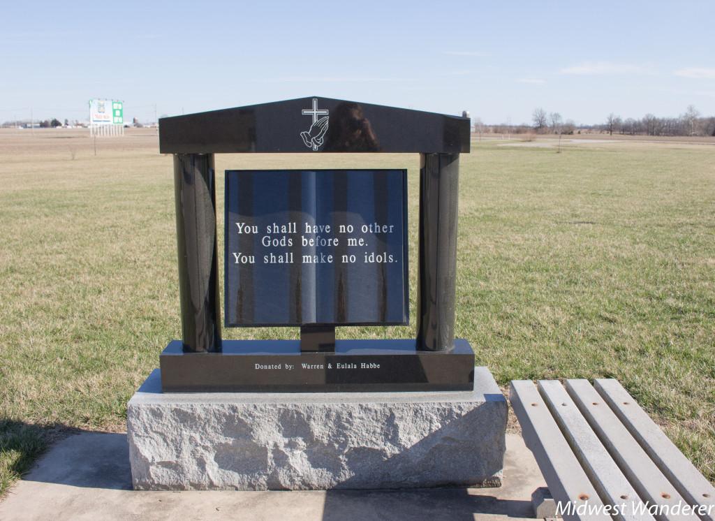 Ten Commandments at Cross at the Crossroads, Effingham Illinois