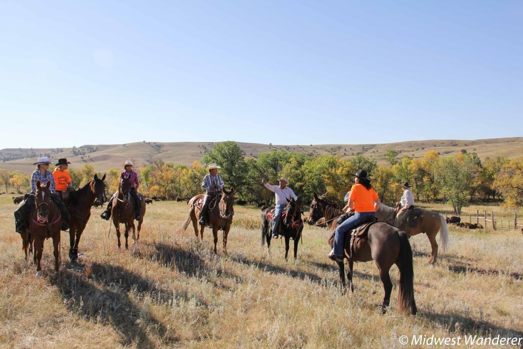 Cowboys and cowgirls at Buffalo Roundup