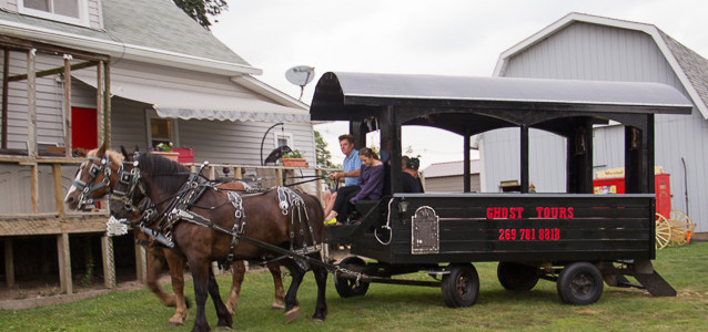 Marshall Carriage Company Ghost Tour in a Horse-Drawn Buggy