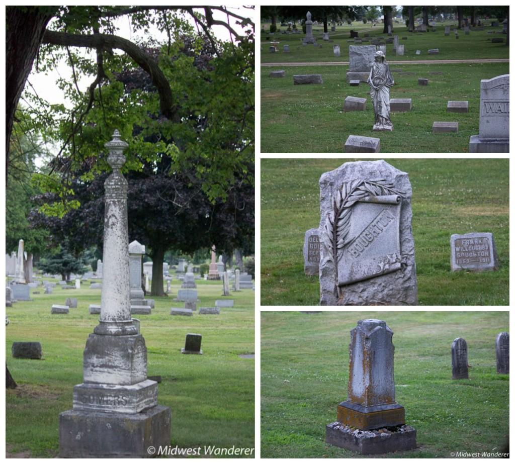 Graves in Oakridge Cemetery