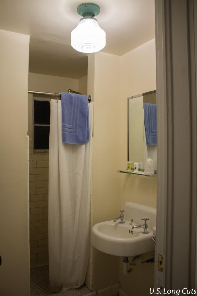 Blue Swallow Motel bathroom