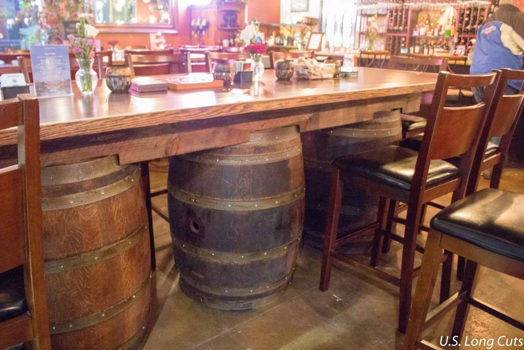 Waterside Restaurant high-top tables