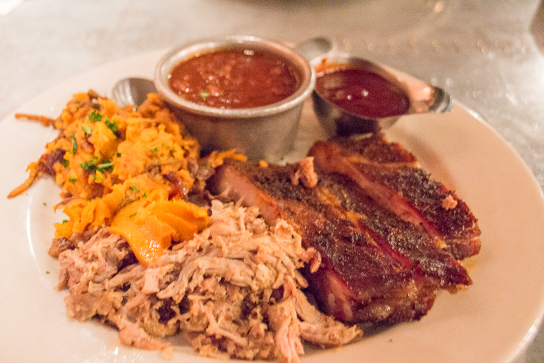 Combo platter at Urban Barbeque