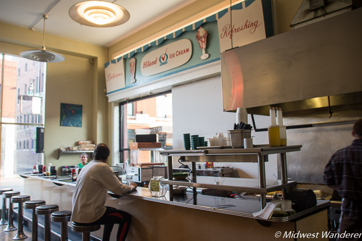 Lunch counter in Gailey's Breakfast Cafe