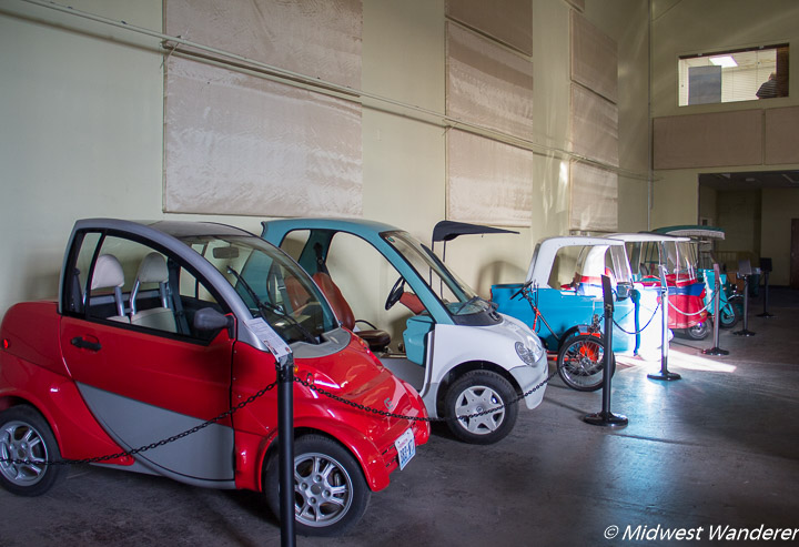 micro cars at the Route 66 Electric Vehicle Museum