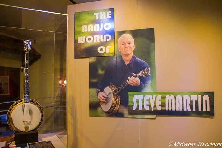 American Banjo Museum Steve Martin exhibit