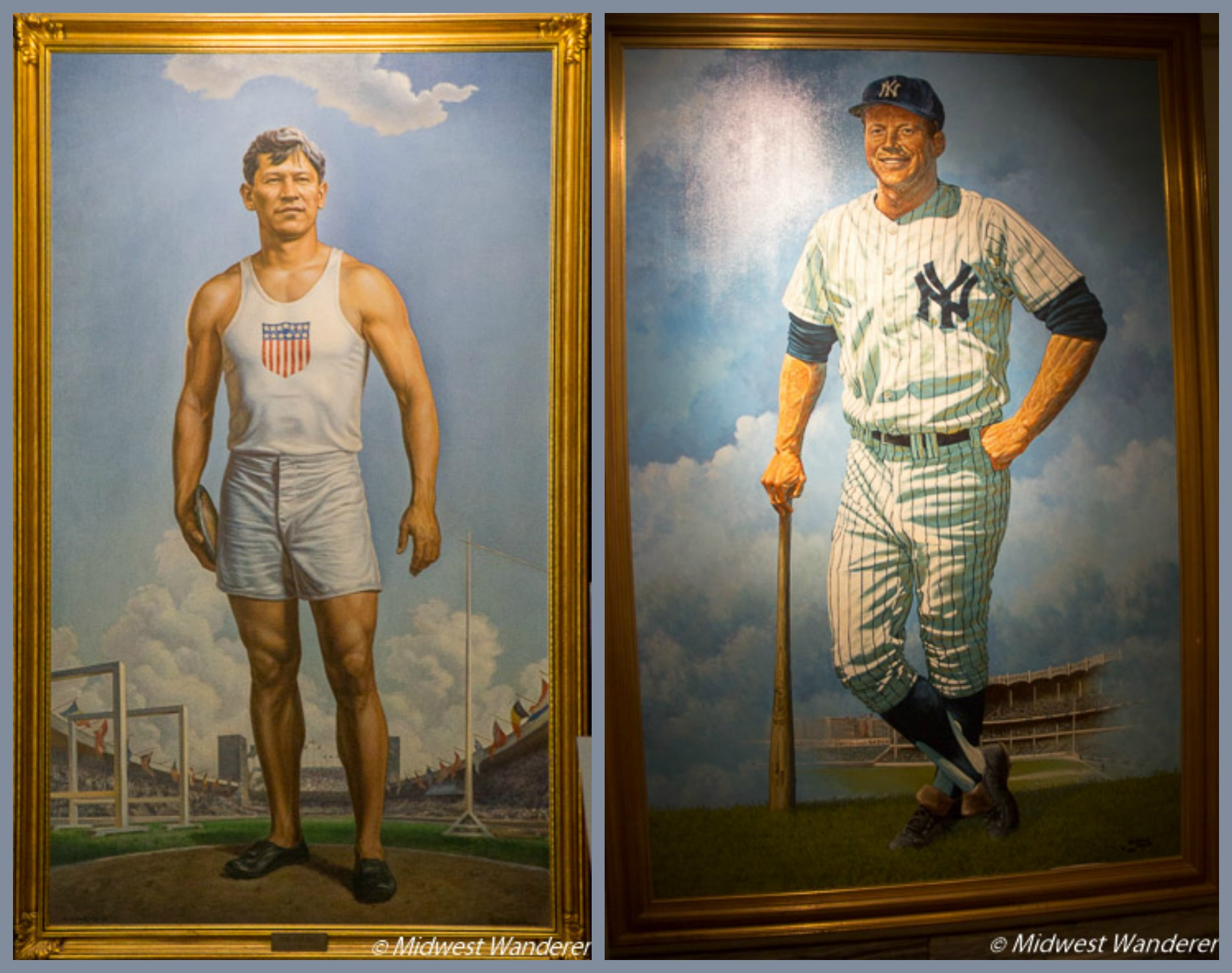 Jim Thorpe and Mickey Mantle