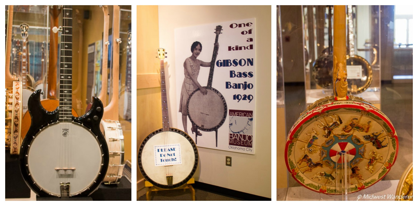 specialty banjos at the American Banjo Museum