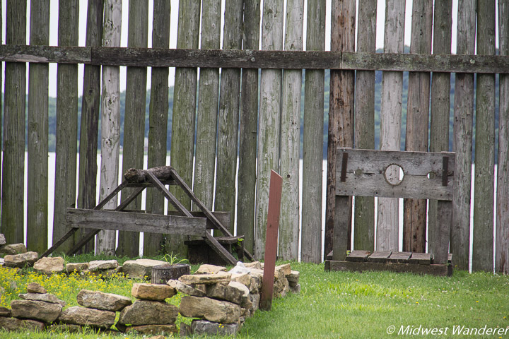 stockade and wooden horse