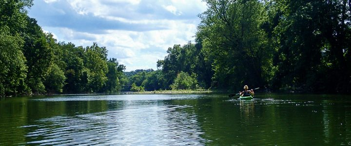 Floating Down Swatara Creek with Cocoa Kayak Rentals of Hershey