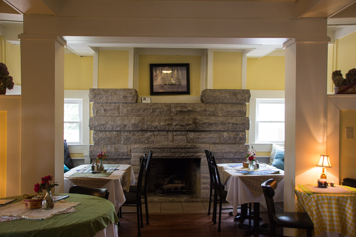 Bread Basket Cafe fireplace