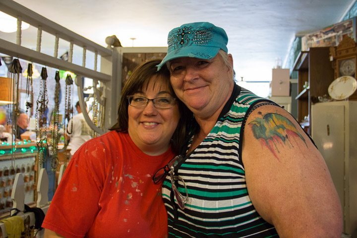 Denise Smith, SOS Vintage owner (left) with Deb Brown, Executive Director, Webster City Area Chamber of Commerce