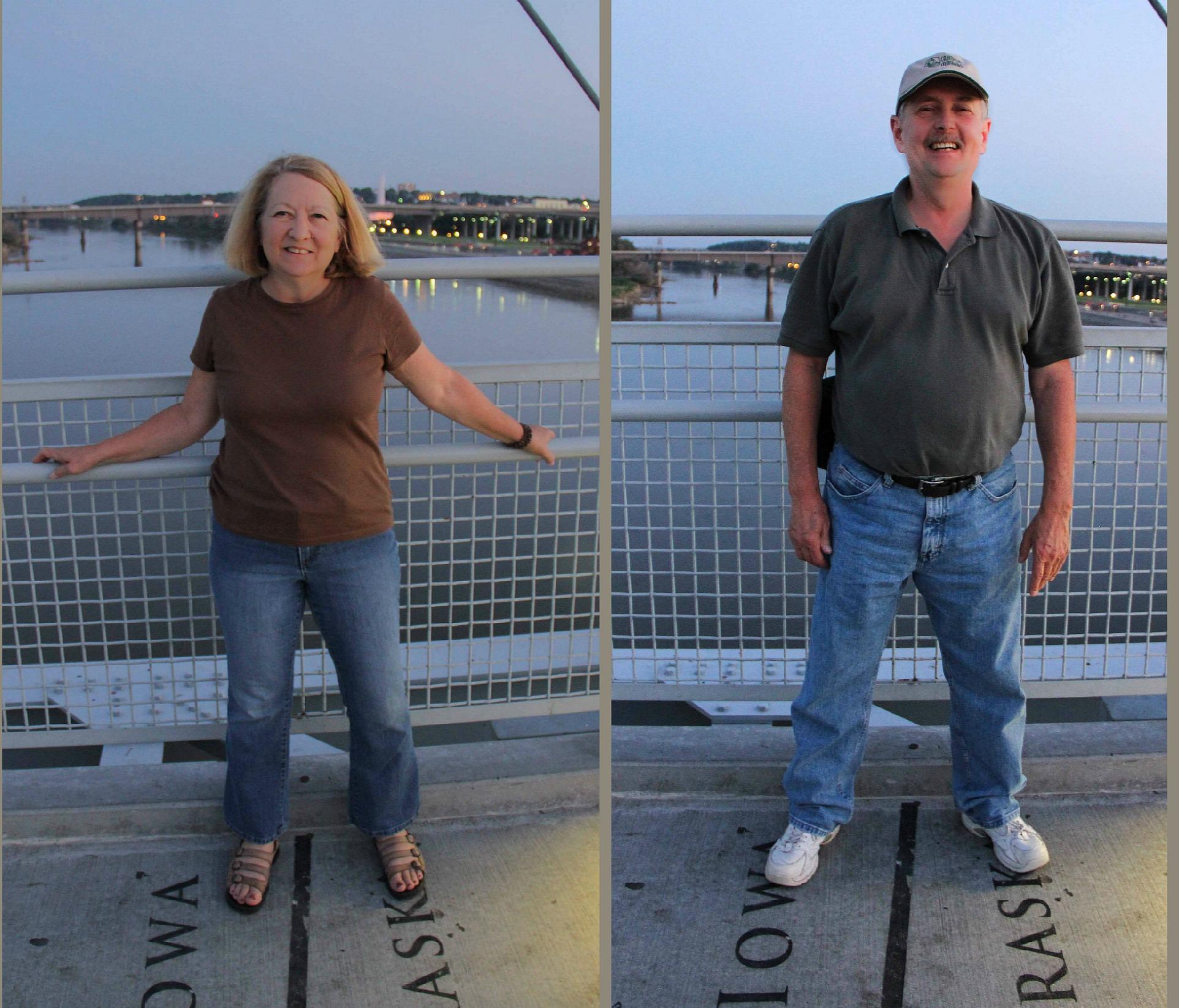 Connecting two states on the Bob Kerrey Pedestrian Bridge