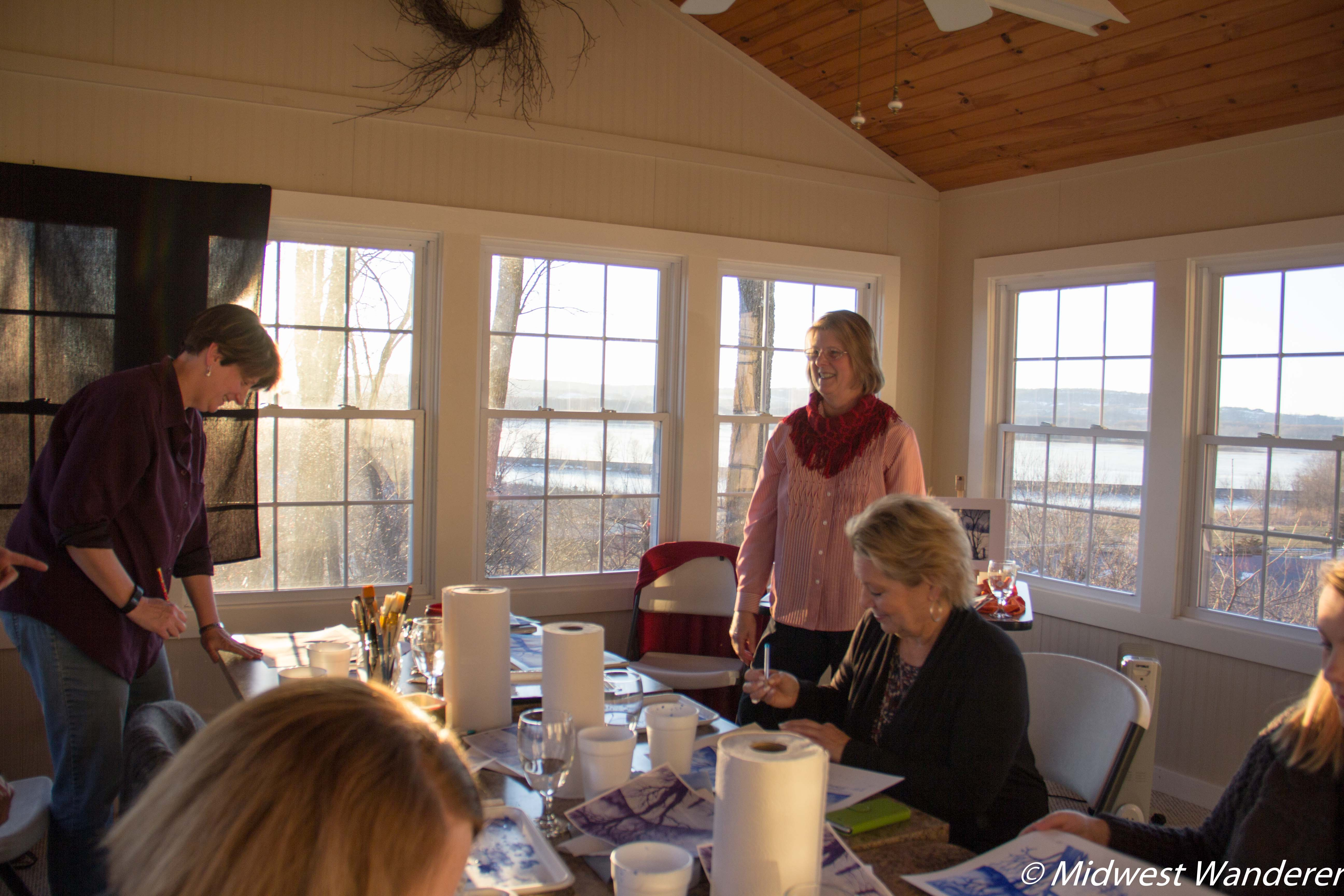 Goldmoor Inn Artists in Residence Watercolor Class