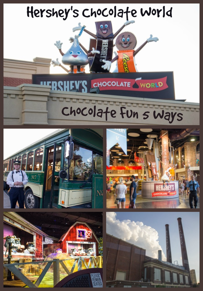 Hersheys Chocolate World collage