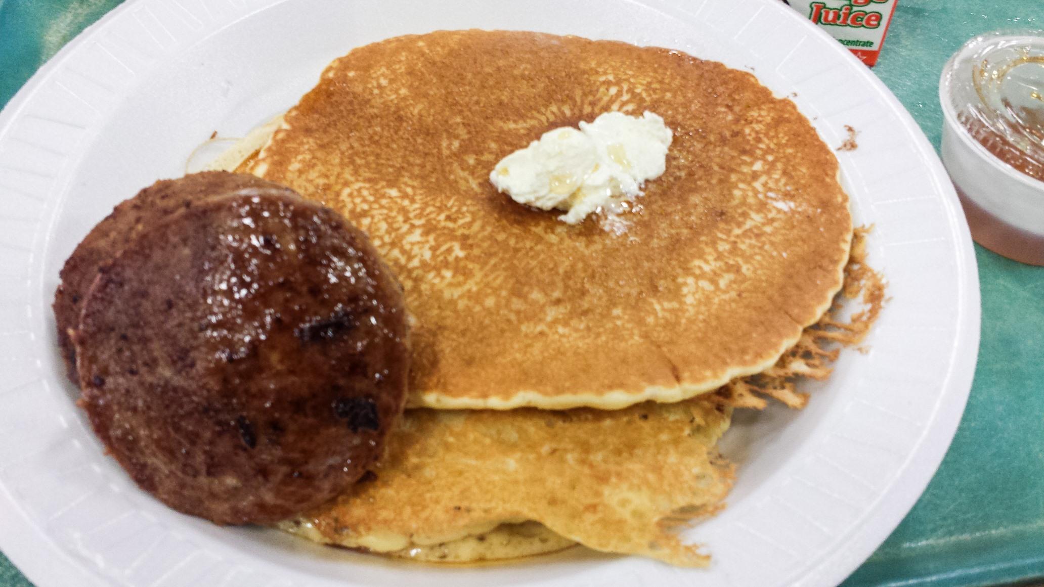Pancakes and sausage