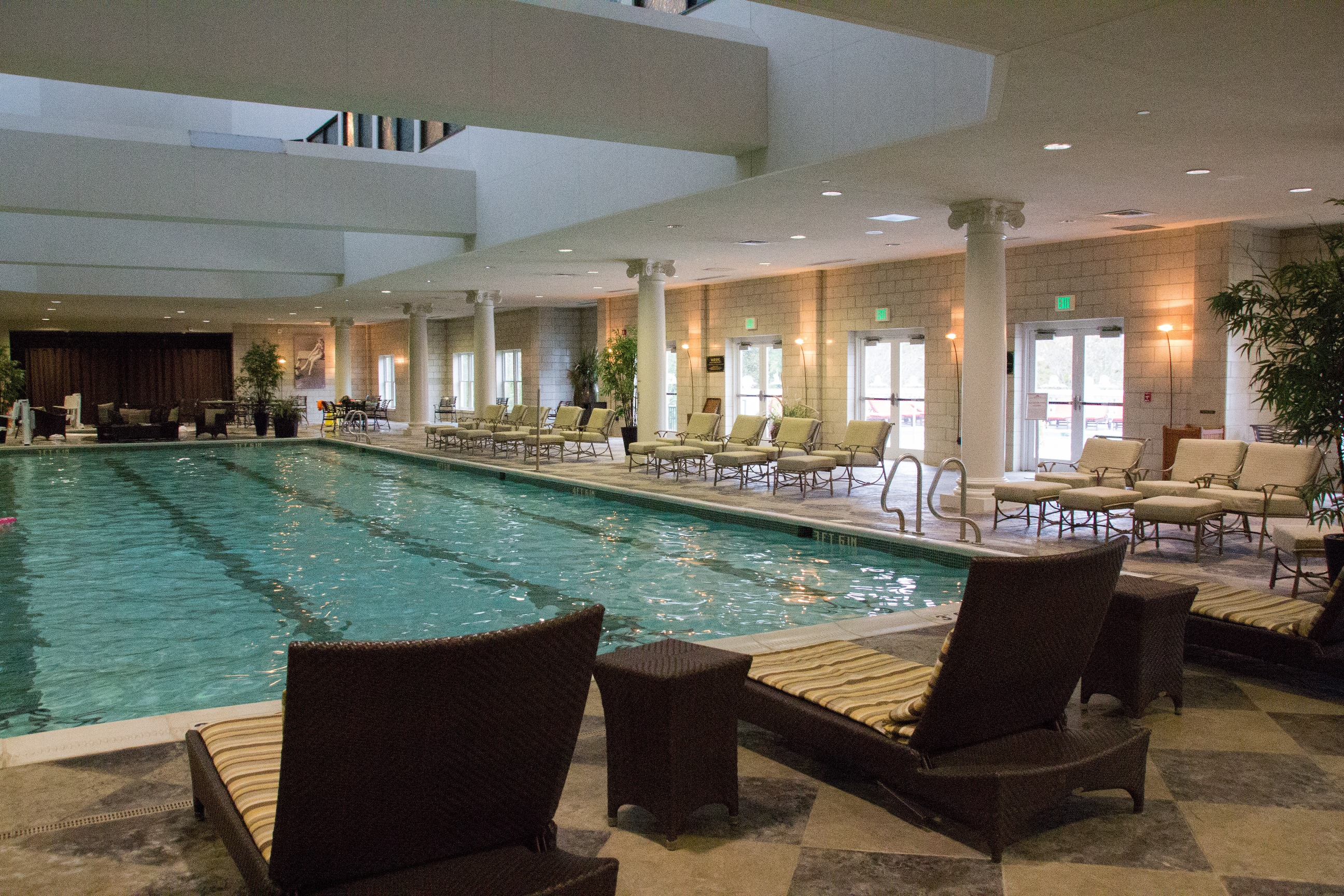 Indoor pool at West Baden Hotel