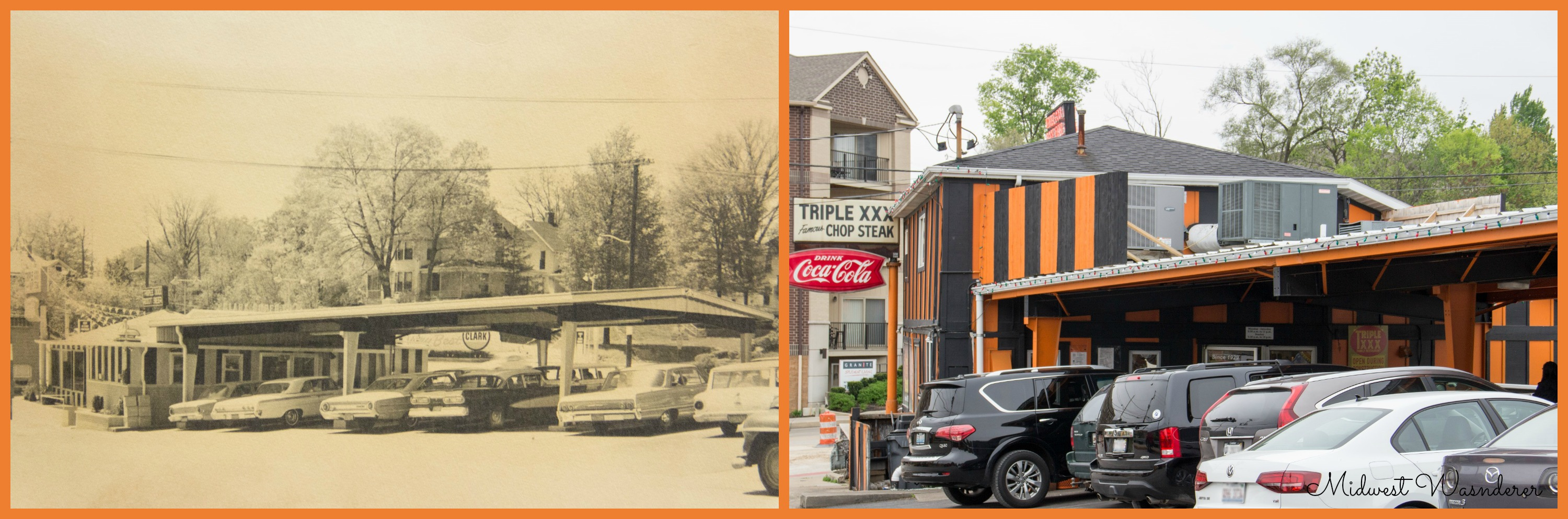 Triple XXX Family Restaurant then and now