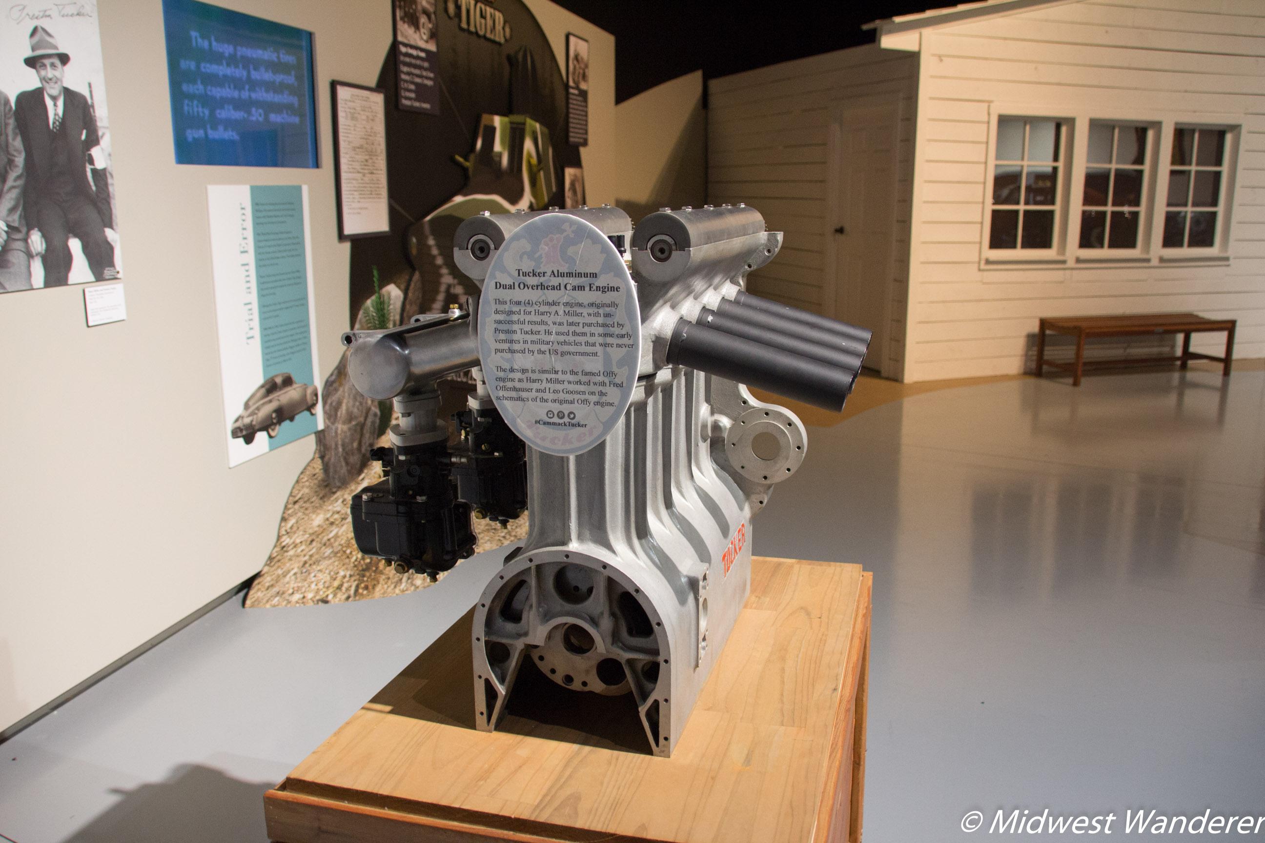 Tucker Aluminum Dual Overhead Cam Engine