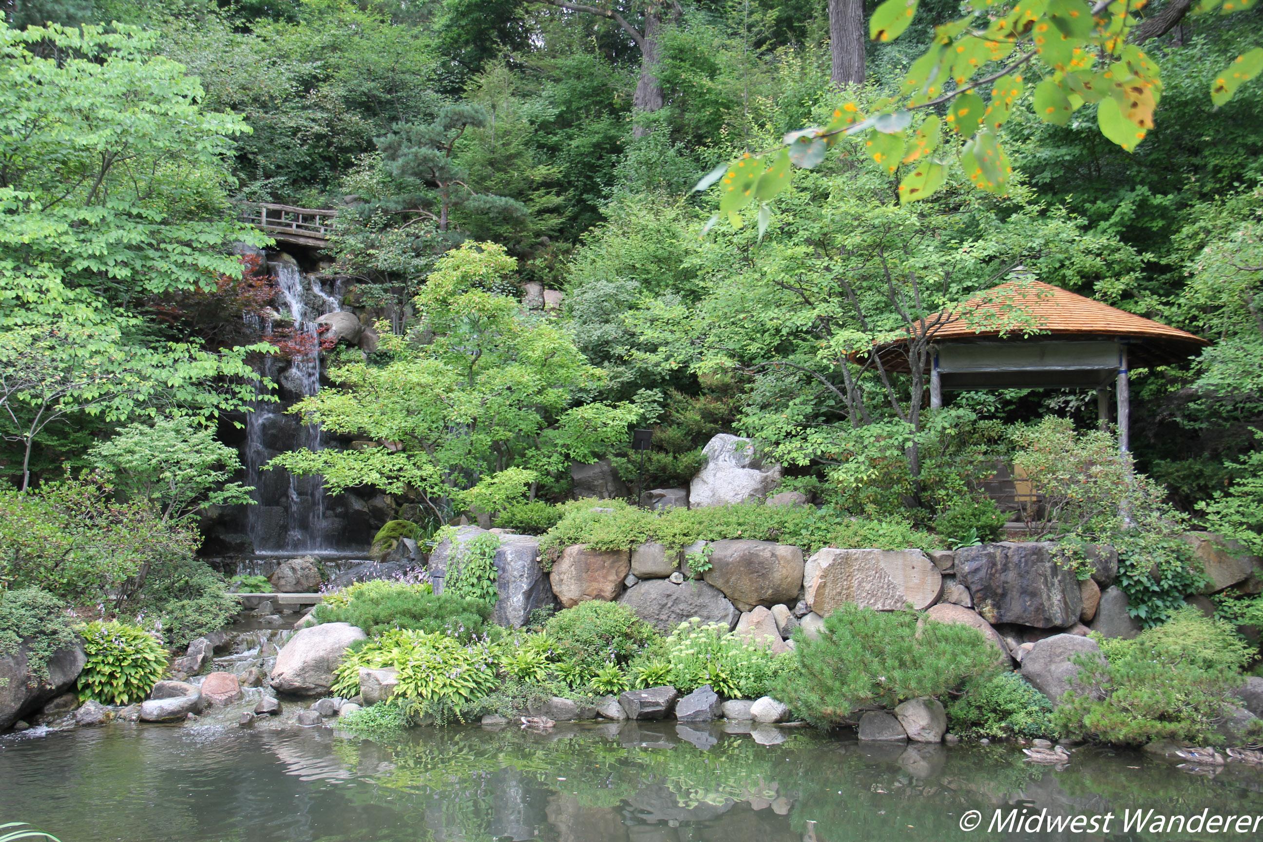Anderson Japanese Gardens - Falls and Gazebo