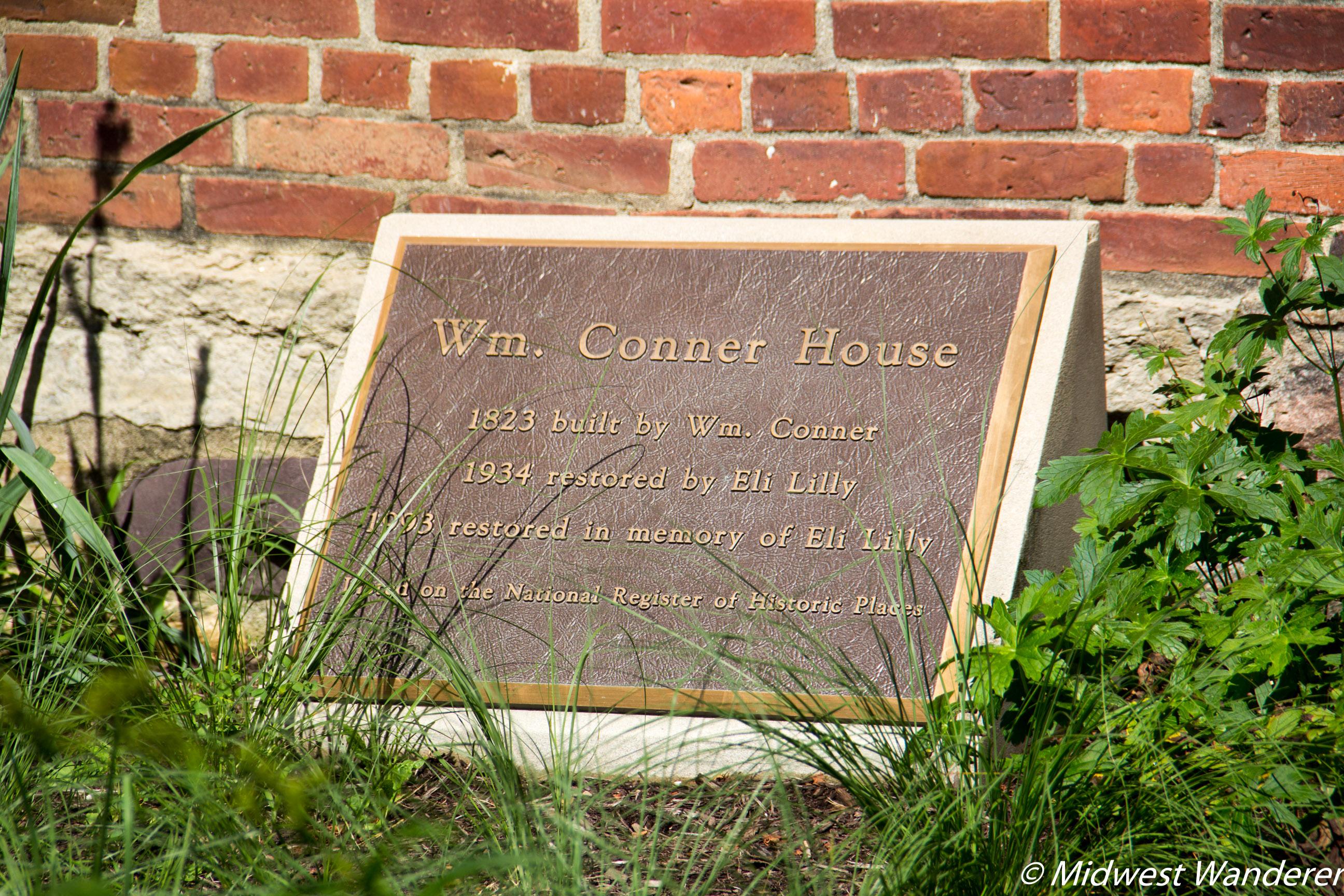 Conner Prairie House - Historical Plaque
