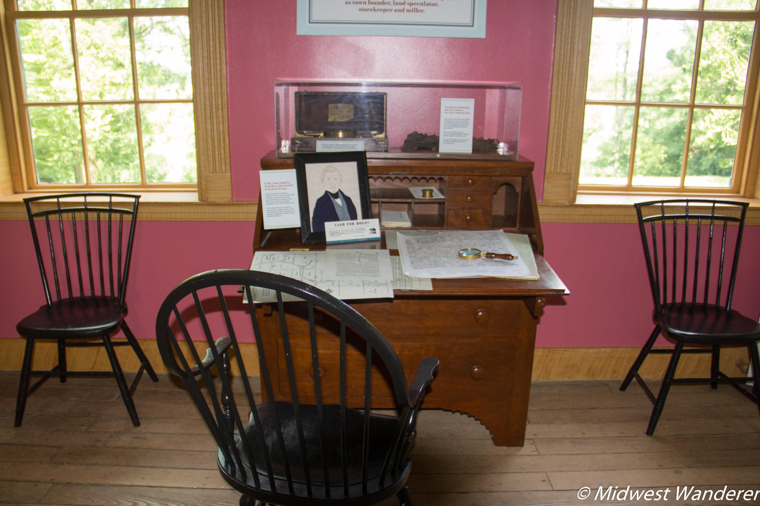 Conner Prairie House - William Conner Desk