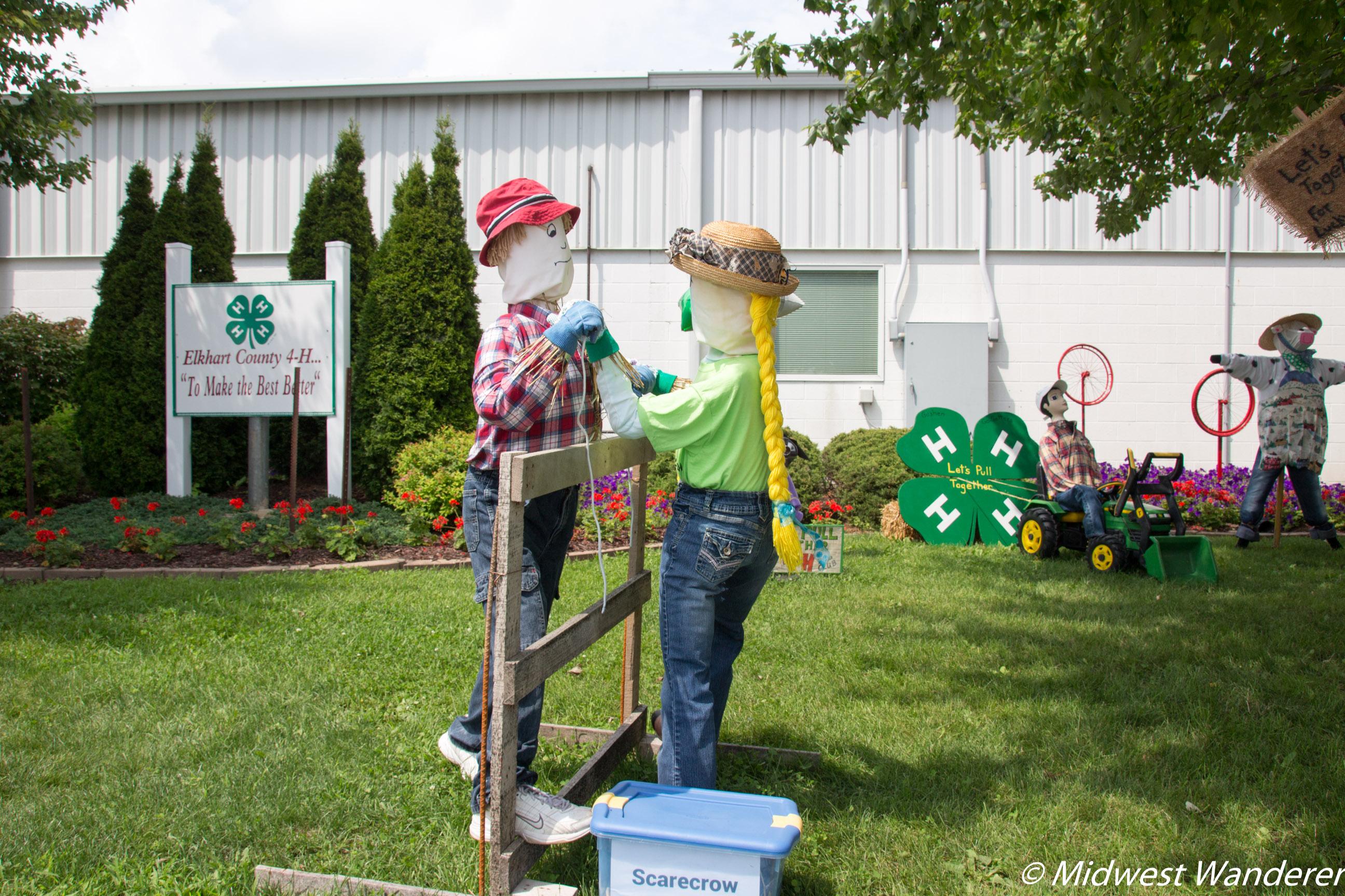 Elkhart County Fairgrounds scarecrows