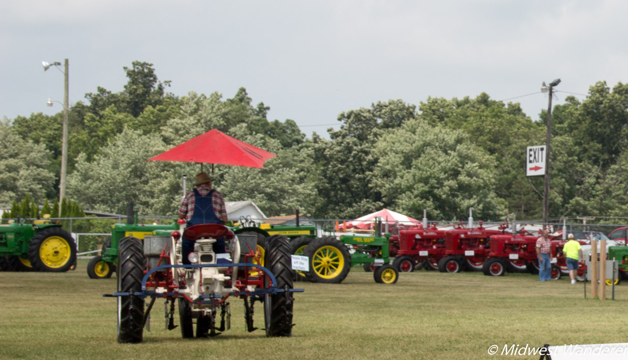 Elkhart County Fair tractor display