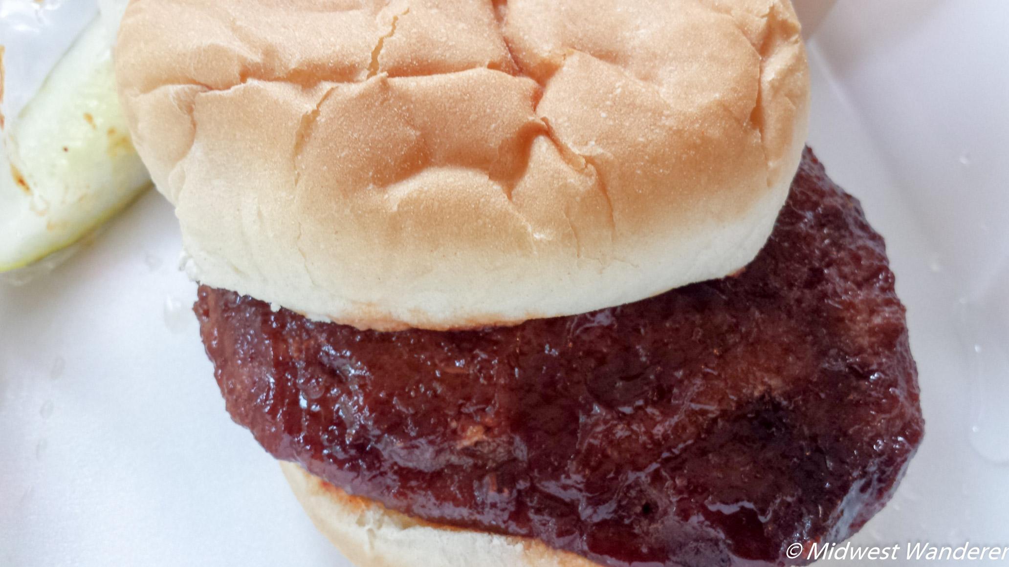 Elkhart County Fair pork burger