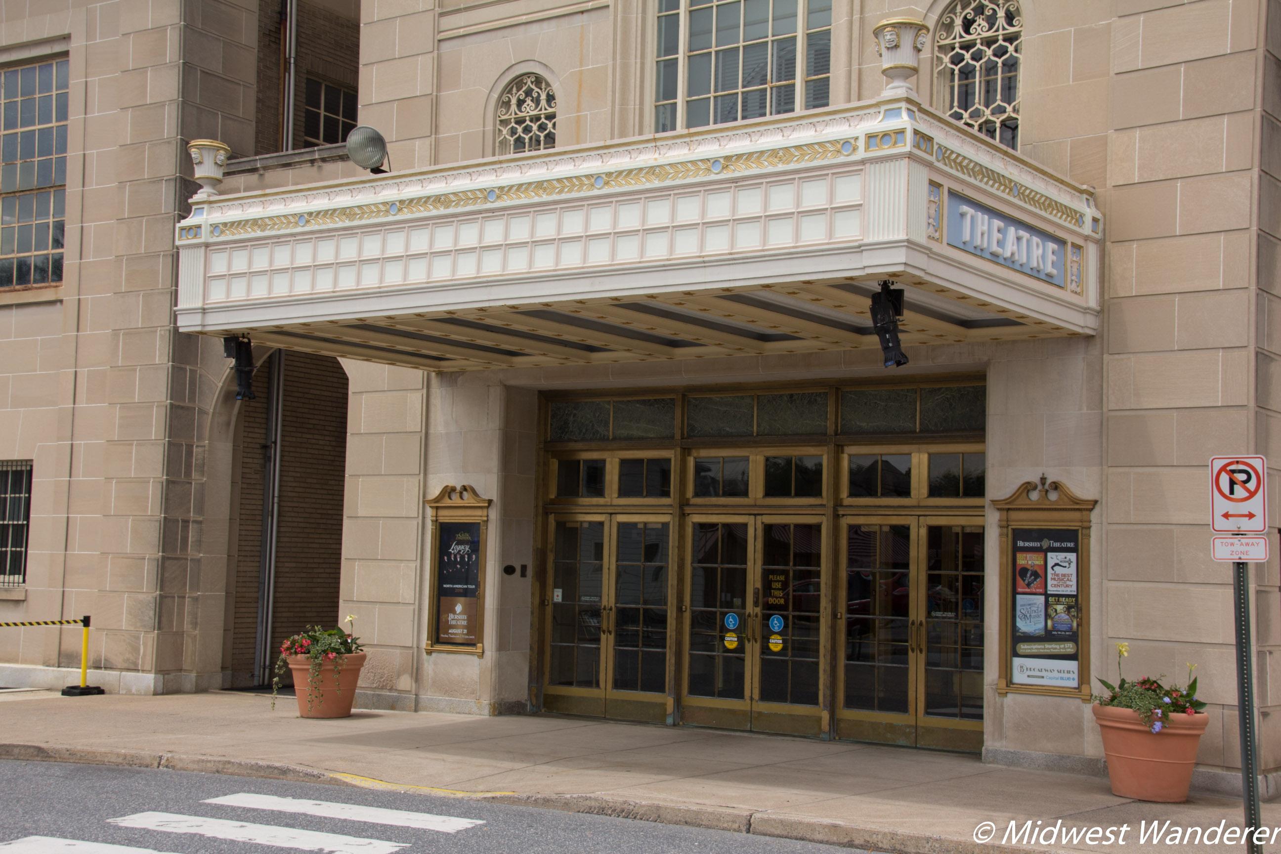 Hershey Theatre entrance