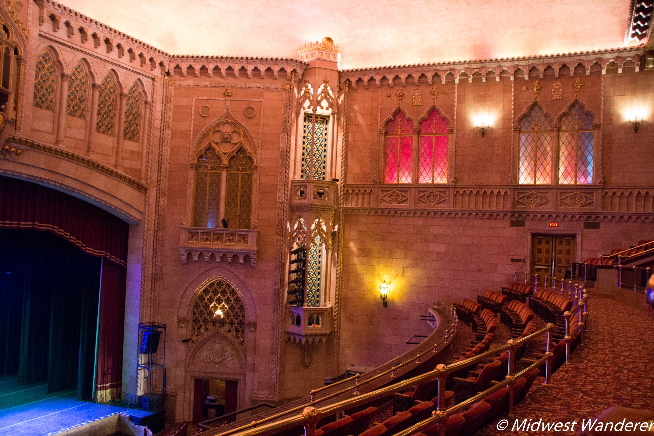 View from the Hershey Theatre Lower Balcony