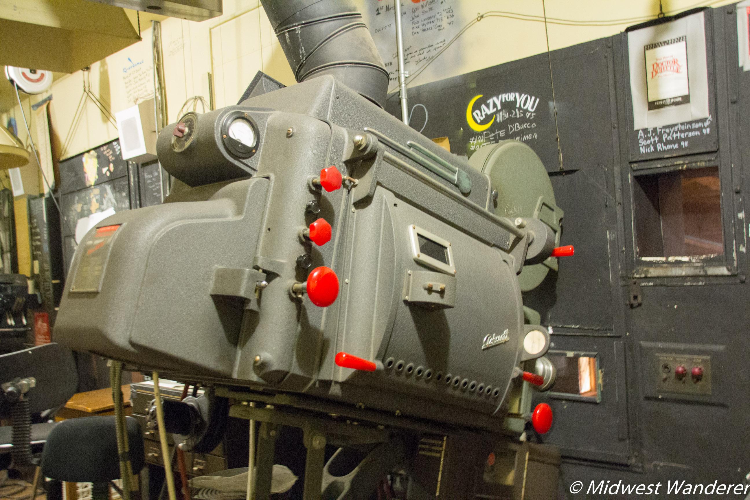 Hershey Theatre original projector