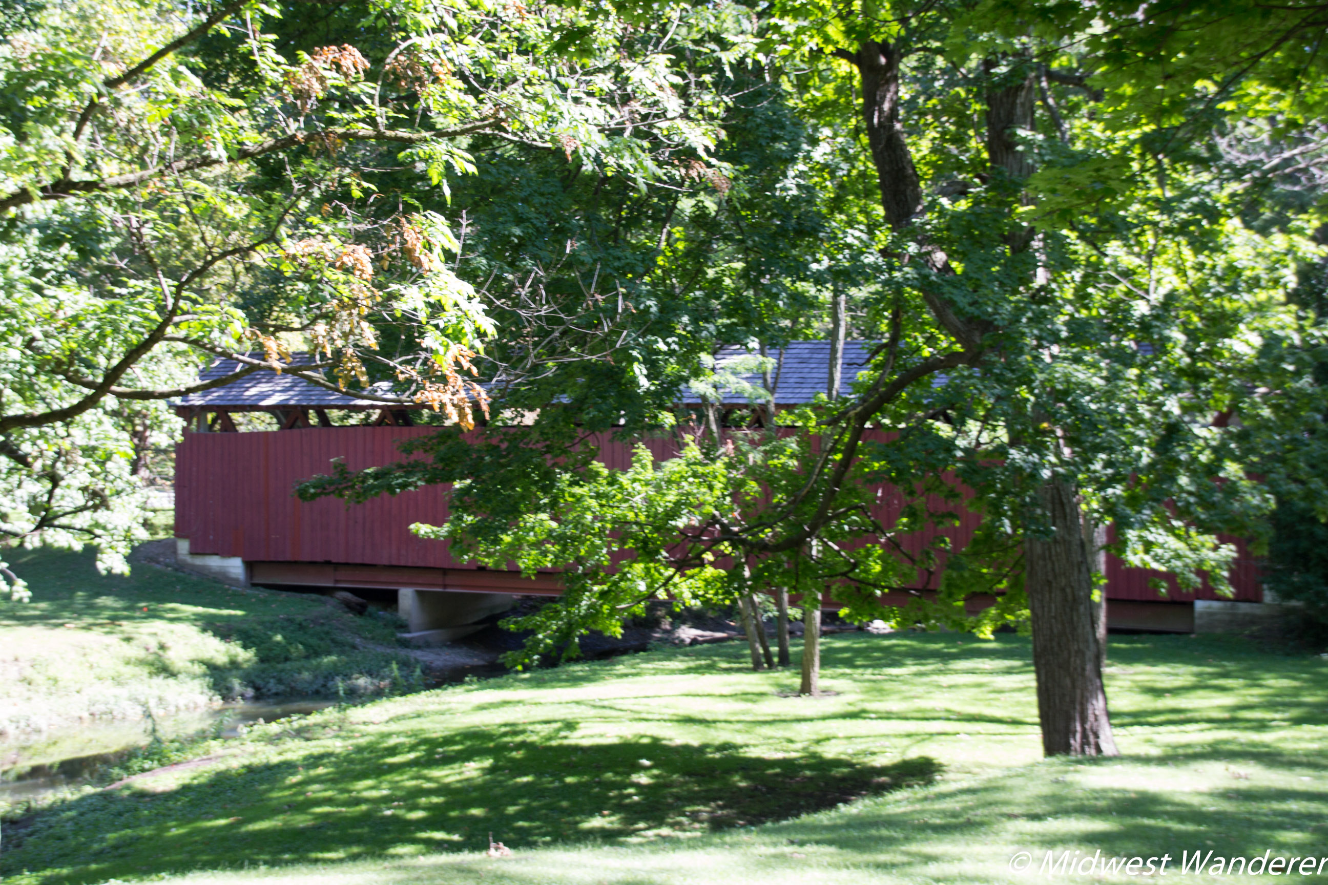 covered bridge in Highland Park