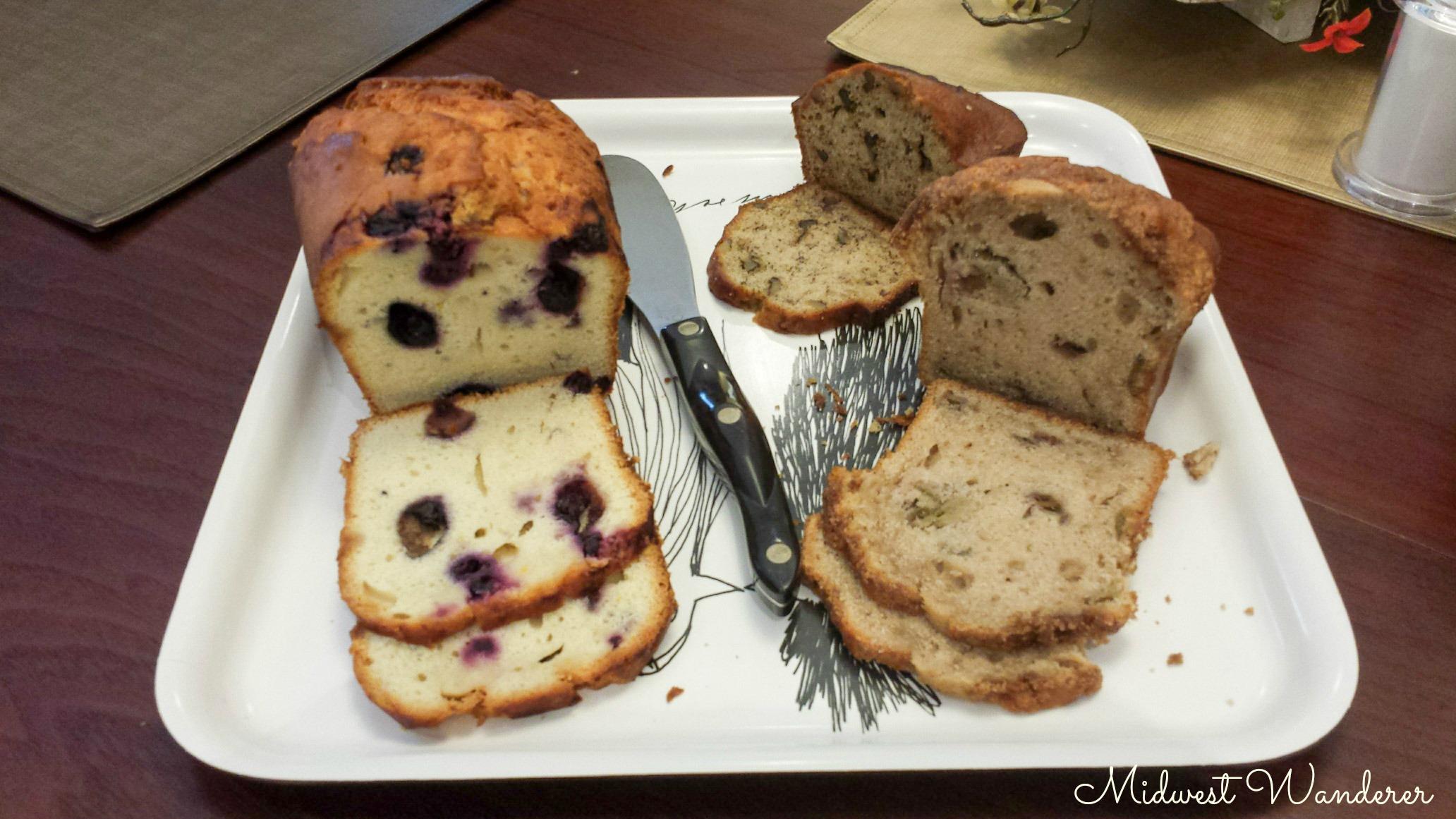 Seldom Scene Meadow B&B Breakfast breads