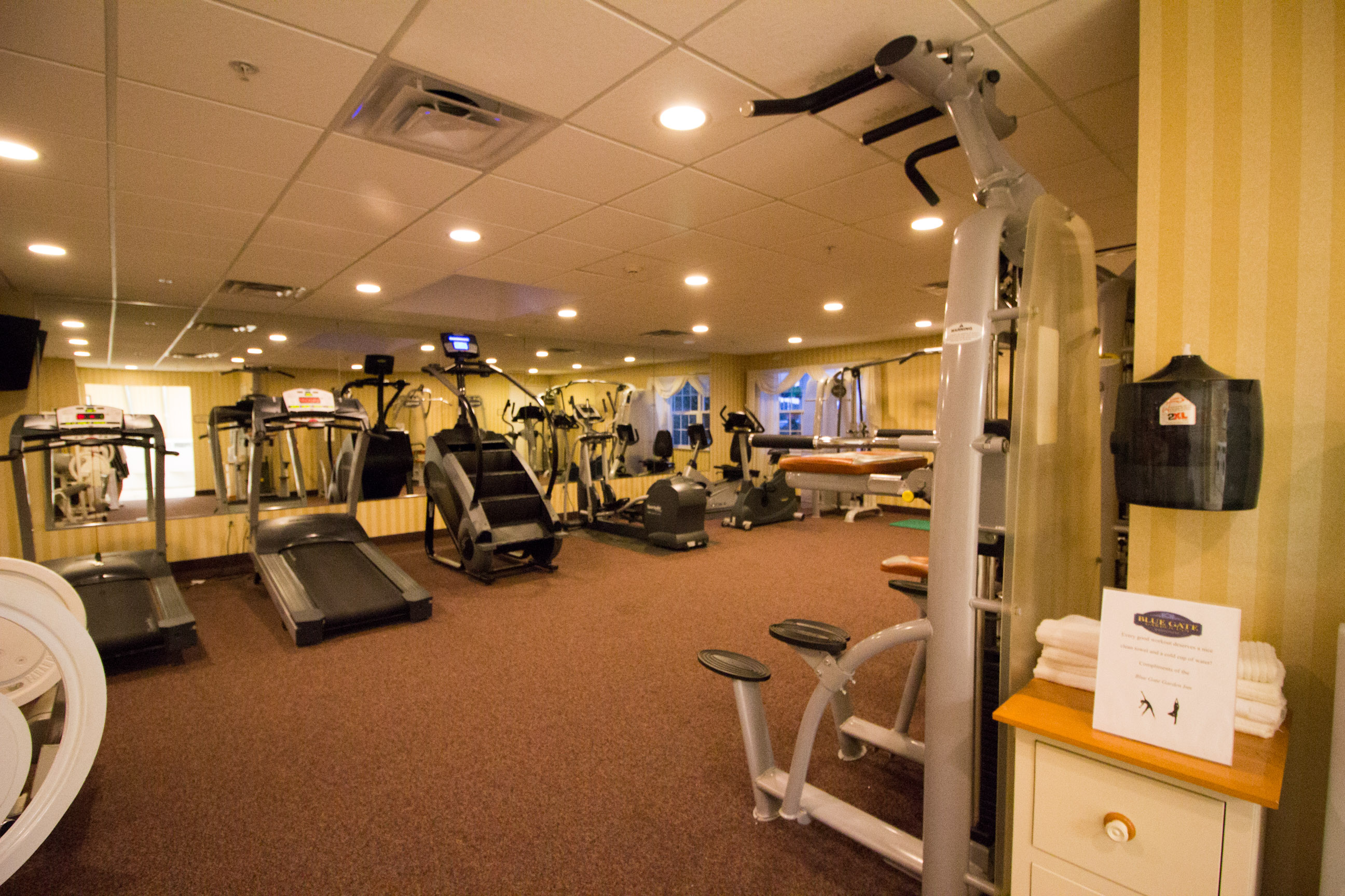 Blue Gate Garden Inn fitness room