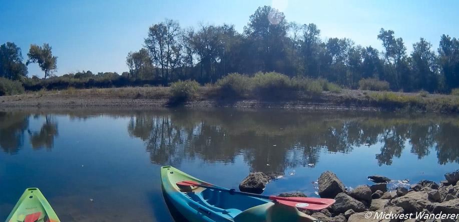 Rubys Landing - kayak trip start