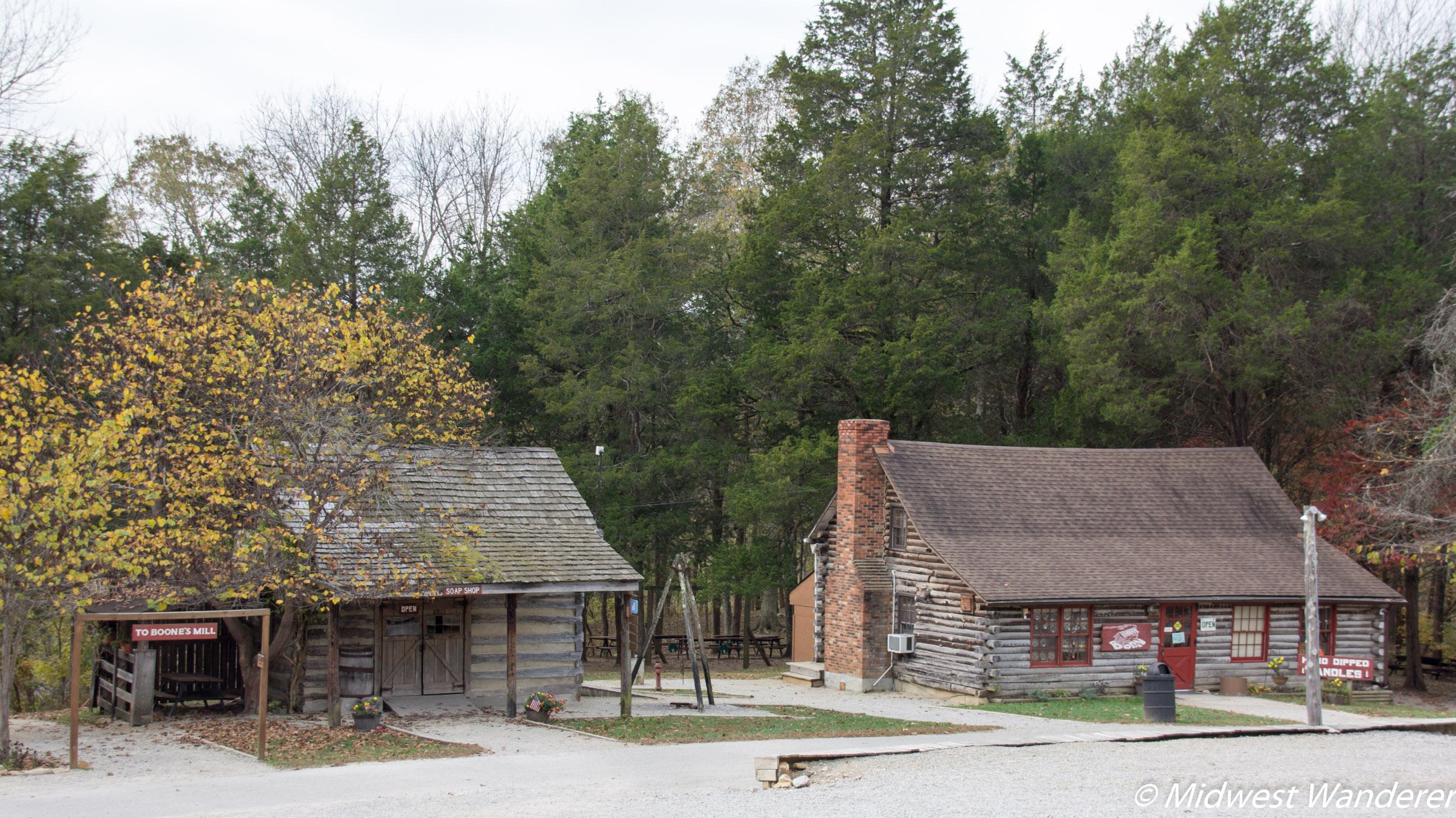 Squire Boone Caverns village