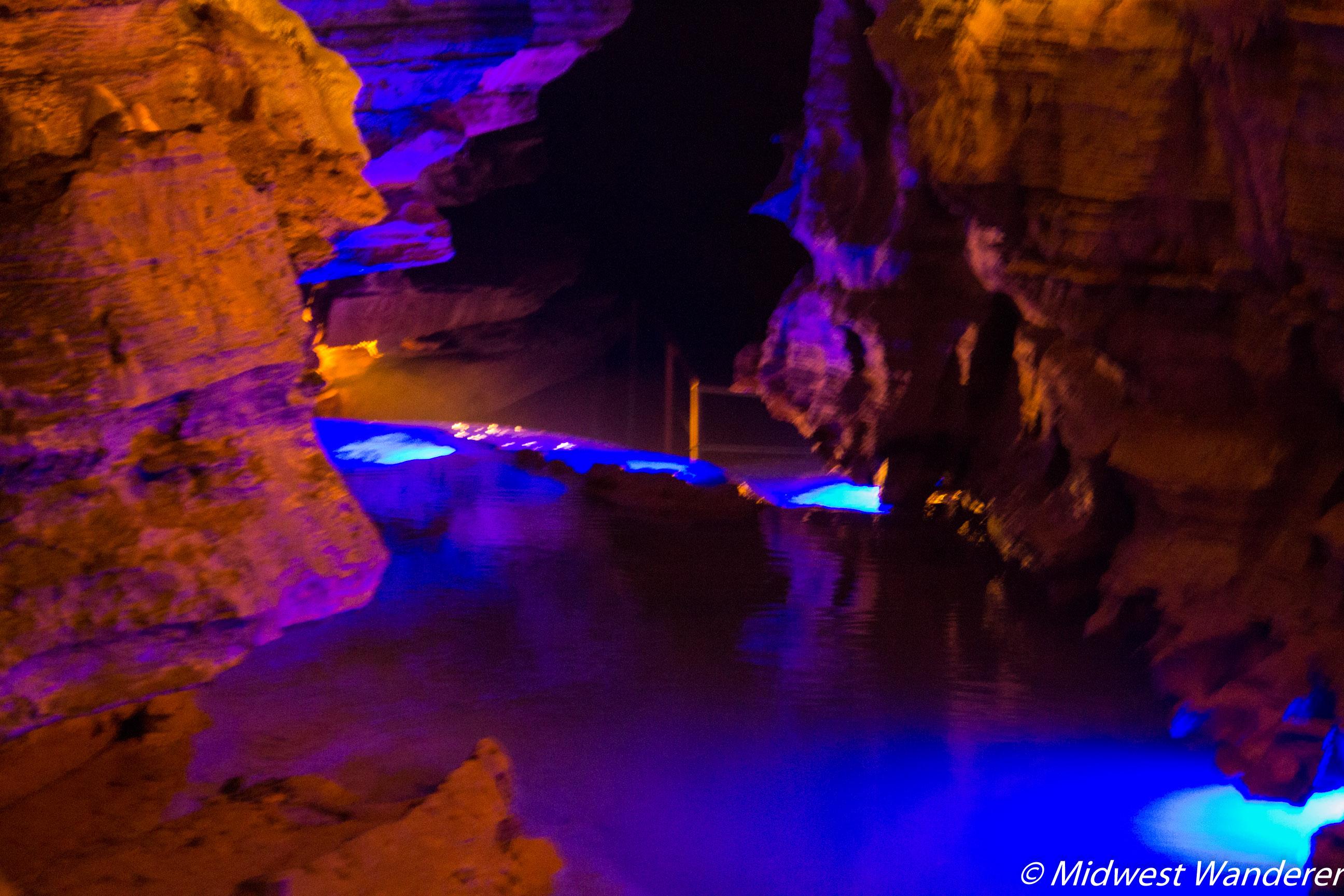 Squire Boone Caverns rimstone dam 2