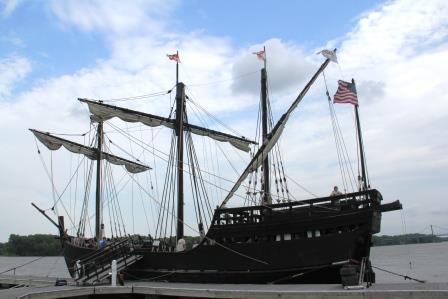 Pinta replica ship. The Columbus Foundation