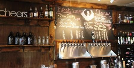 BlackSwan Brewpub bar