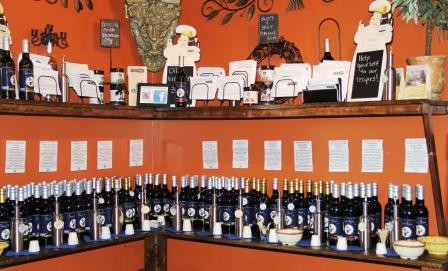 Silver Moon Winery oils and vinegars