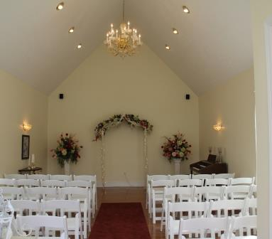 Wedding chapel at Summers Riverview Mansion bed and breakfast in Metropolis Illinois 2
