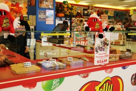 Fudge in Jelly Belly outlet store