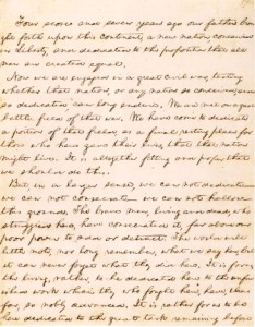 Gettysburg Address Page 1